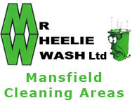 Wheelie bin cleaning in Mansfield and its surrounding areas
